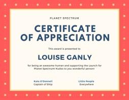Certificate of appreciationLG
