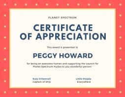 Certificate of appreciationPH